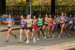 lead pack elite women apx. mile 5 in Brooklyn