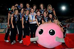 23-08-2009 VOLLEYBAL: WGP FINALS CEREMONY: TOKYO <br /> Duitsland wint de bronzen medaille op de World Grand Prix 2009<br /> ©2009-WWW.FOTOHOOGENDOORN.NL