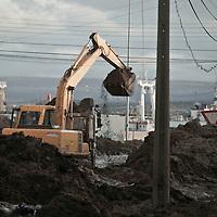 Punta Arenas lucha contra el barro