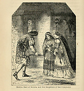 Edwin, Earl of Mercia, and the daughters of [William] the Conqueror From the Book 'Danes, Saxons and Normans : or, Stories of our ancestors' by Edgar, J. G. (John George), 1834-1864 Published in London in 1863