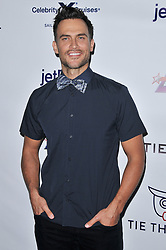 Cheyenne Jackson arrives at Jessie Tyler Ferguson's 'Tie The Knot' 5 Year Anniversary celebration held at NeueHouse Hollywood in Los Angeles, CA on Thursday, October 12, 2017. (Photo By Sthanlee B. Mirador/Sipa USA)