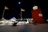 Ålesund 13012011.<br /> Utsikt mot Molja fyr ved brosundet i Ålesund. I Molja fyrtårn kan man overnatte, der er Rom 47 på Hotel Brosundet.<br /> <br /> View towards Molja lighthouse in Aalesund. Molja lighthouse is a part of Hotel Brosundet and it's possible to rent a room inside the lighthouse.<br /> Foto: Svein Ove Ekornesvåg