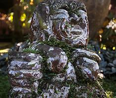 Stones and Stonecarvings, Murni's Houses, Ubud, Bali