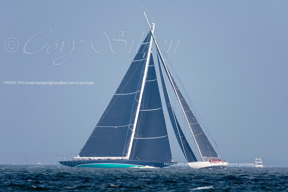 Ranger and Topaz sailing in the J Class World Championship.