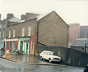 Old amateur photos of Dublin streets churches, cars, lanes, roads, shops schools, hospitals January 1992 April 1987 inchacore old shop