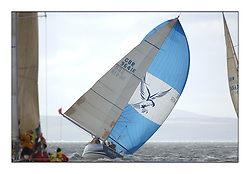 Day 3 of the Bell Lawrie Scottish Series with near perfect conditions on Loch Fyne for all fleets. ..Class 1 9641r Local Hero with spinnaker.