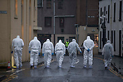 HUMAN REMAINS FOUND IN MONTROSE ..  PIC OF POLICE ACTIVITY AROUND THE MARKET STREET AREA OF MONTROSE<br /> PIC DEREK IRONSIDE / NEWSLINE MEDIA