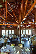 Interior view of the new Wolf Lake Lodge at Dairymen's Country Club in the Northwoods village of Boulder Junction, Wisconsin. The lodge was rebuilt after a fire destroyed the building in 2005.