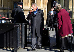 © Licensed to London News Pictures.07/03/2017.London, UK. Hereditary peer, Lord Adrian Palmer outside Parliament on the day of a vote in the Lord's on the third reading of the Brexit bill. .Photo credit: Ben Cawthra/LNP