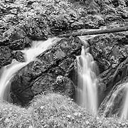 Sol Duc Falls - Olympic National Park, WA - Black & White