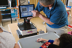 Pupil with cerebral palsy being assessed with MyTobii,