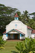 Catholic Church, Aitu Island, Cook Islands, Polynesia