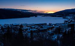 THEMENBILD - Sonnenuntergang über dem Lake Aare, aufgenommen am Mittwoch, 14. März 2018. Die alpinen Ski- Weltmeisterschaften 2019 finden von 05. bis 17. Februar in Aare /Schweden statt // sunset over Lake Aare, pictured on Tuesday, March 13, 2018. The Alpine Skiing World Championships 2019 will take place from 05 to 17 February in Aare. Sweden on 2017/03/14. EXPA Pictures © 2018, PhotoCredit: EXPA/ Johann Groder