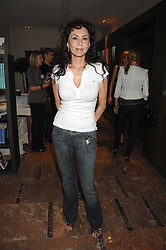 MARIE HELVIN at a party to celebrate the publication of Lisa B's book 'Lifestyle Essentials' held at the Cook Book Cafe, Intercontinental Hotel, Park Lane London on 10th April 2008.<br />