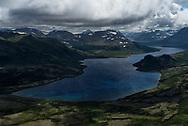 A backcountry alpine lake in the Katmai Wilderness