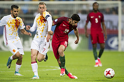 June 20, 2017 - Gdynia, Poland - Goncalo Guedes of Portugal and Gerard Deulofeu of Spain fight for the ball during the UEFA European Under-21 Championship 2017  Group B match between Portugal and Spain at Gdynia Stadium in Gdynia, Poland on June 20, 2017  (Credit Image: © Andrew Surma/NurPhoto via ZUMA Press)