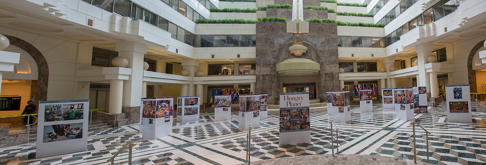 Washington DC. Hungry Planet: What the World Eats exhibit at the Inter-American Development Bank.