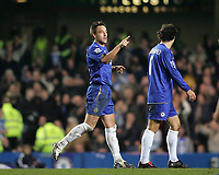 Photo: Lee Earle.<br /> Chelsea v Wigan Athletic. The Barclays Premiership.<br /> 10/12/2005. Chelsea's John Terry celebrates his opening goal.