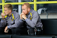 Burton Albion record-signing Burton Albion striker Liam Boyce (27) is out of the match and whole season with an ACL injury during the EFL Sky Bet Championship match between Burton Albion and Cardiff City at the Pirelli Stadium, Burton upon Trent, England on 5 August 2017. Photo by Richard Holmes.