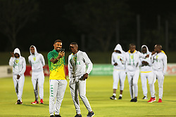 17032018 (Durban) Golden Arrows players on the pitch the checking turf before their match against Pirates when Orlando Pirates walloped Golden Arrows 2-1 at the ABSA premier league encounter at Princess Magogo Staduim; in Kwa-Mashu; Durban. Pirates has advance their league position to number 2 with 41 points after Sundowns with 42 points lead.<br /> Picture: Motshwari Mofokeng/African New Agency/ANA