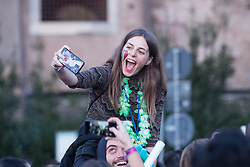 November 17, 2018 - Roma, RM, Italy - Erasmus students' parade in Via dei Fori Imperiali in Rome on the occasion of the Erasmus Cultural Meeting. (Credit Image: © Matteo Nardone/Pacific Press via ZUMA Wire)