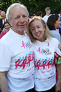 13 September 2009- NY, NY l to r: Senator Joe Libermann and Hadassah Libermann at The Annual Komen New York City Race for the Cure held at West 77th Street and Central Park West on September 13, 2009 in New York City.  Photo credit: Terrence Jennings/Sipa Press