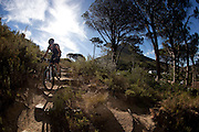 Andrew Guess manoeuvres his mountain bike and trial bike around Cape Town seeking out extreme places to push his limits and do what he loves doing, riding his bike. Picture by Greg Beadle