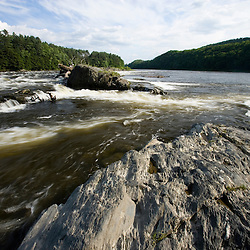 The Connecticut River at Sumner Falls (Hartland Rapids) in Hartland, Vermont.