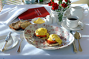 Eggs Benedict for breakfast at Castlewood House, The Wood, Dingle, Co. Kerry who won the Best Breakfast in Ireland award.<br /> Picture by Don MacMonagle -macmonagle.com