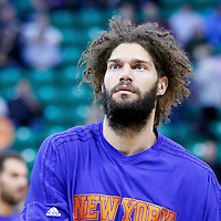 09 December 2015: New York Knicks center Robin Lopez (8) warms up prior to the Utah Jazz 106-85 victory over the New York Knicks, at the Vivint Smart Home Arena, Salt Lake City, Utah, USA.