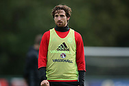 Joe Allen of Wales looks on during the Wales football team training at the Vale Resort, Hensol , South Wales on Monday 2nd October 2017, the team are preparing for their FIFA World Cup qualifier away to Georgia this week. pic by Andrew Orchard, Andrew Orchard sports photography