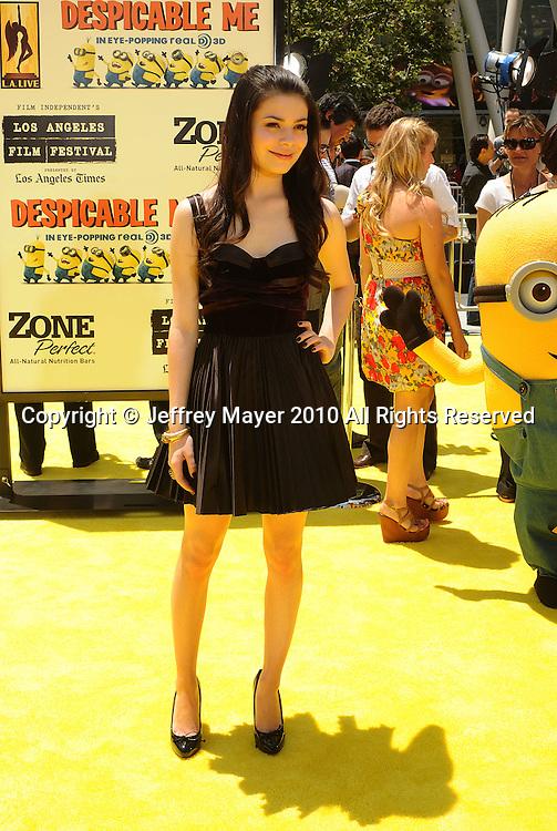 "LOS ANGELES, CA. - June 27: Miranda Cosgrove arrives at the 2010 Los Angeles Film Festival - ""Despicable Me"" Premiere on June 27, 2010 in Los Angeles, California."