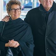 NLD/Amsterdam/20181027 - Herdenkingsdienst Wim Kok, Joop van den Ende en partner janine Klijburg