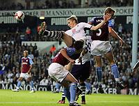 Tottenham Hotspur FC vs Aston Villa FC Premier League 15/09/08<br /> Photo Nicky Hayes/Fotosports International<br /> Roman Pavlyuchenko is beaten in aerial challenge