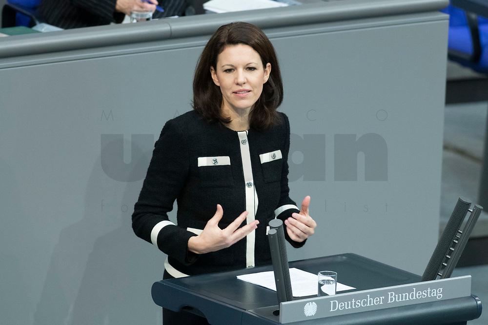 13 FEB 2020, BERLIN/GERMANY:<br /> Katja Leikert, MdB, CDU, Sitzung des Deutsche Bundestages, Plenum, Reichstagsgebaeude<br /> IMAGE: 20200213-01-017