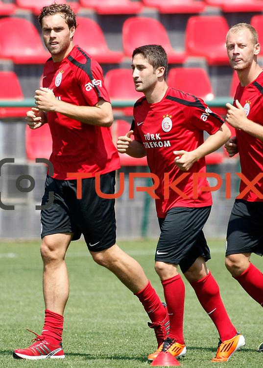Galatasaray's Johan ELMANDER (L) during their training at the Jupp Derwall training center, Saturday, July 16 2011. Photo by TURKPIX