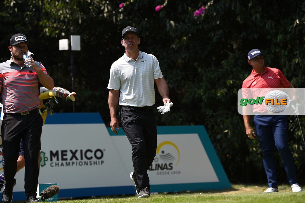 Tyrrell Hatton (ENG) and Paul Casey (ENG) on the 2nd tee during Rd4 of the World Golf Championships, Mexico, Club De Golf Chapultepec, Mexico City, Mexico. 2/23/2020.<br /> Picture: Golffile | Ken Murray<br /> <br /> <br /> All photo usage must carry mandatory copyright credit (© Golffile | Ken Murray)