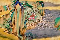 République d'Irlande, Dublin, le musée Chester Beatty, peinture du milieu du 17e siècle, Japon // Republic of Ireland, Dublin, Chester Beatty Museum at the castle garden, painting from mid-17th century, Japan