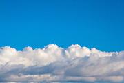 Clouds pattern in an empty sky