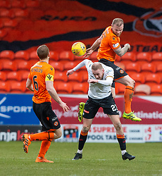 Partick Thistle's Zak Rudden and Dundee United's Mark Connolly. Dundee United 1 v 1 Partick Thistle, Scottish Championship game played 7/3/2020 at Dundee United's stadium Tannadice Park.