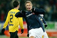 Fotball , 15. mars 2009 , Tippeligaen , Strømsgodset - Start 3-3<br /> Marcus Pedersen , SIF julber for scoring
