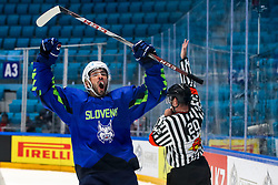 Bostjan Golicic of Slovenia celebrate during ice hockey match between Slovenia and Lithuania at IIHF World Championship DIV. I Group A Kazakhstan 2019, on May 5, 2019 in Barys Arena, Nur-Sultan, Kazakhstan. Photo by Matic Klansek Velej / Sportida