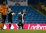 Leeds United defender Liam Cooper is helped off the pitch during the EFL Sky Bet Championship match between Leeds United and Wolverhampton Wanderers at Elland Road, Leeds, England on 7 March 2018. Picture by Paul Thompson.