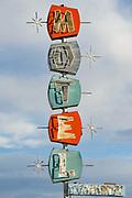 Neon Sign for Sue's Motel in Mina, Nevada