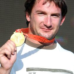 20080821: Olympics - Primoz Kozmus in BTC Ljubljana