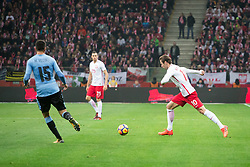 November 10, 2017 - Warsaw, Poland - Matias Vecino (U15), Jaroslaw Jach (P25) and Grzegorz Krychowiak (P10) during the international friendly soccer match between Poland and Uruguay at the PGE National Stadium in Warsaw, Poland on 10 November 2017  (Credit Image: © Mateusz Wlodarczyk/NurPhoto via ZUMA Press)