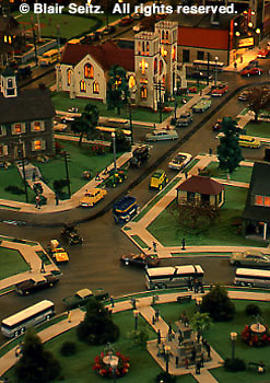 Mini-village, 50's (fifties) town scene, Roadside America, Shartlesville, Berks Co., PA