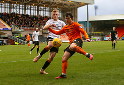 Partick Thistle's Shea Gordon and Dundee United's Ian Harkes. Dundee United 1 v 1 Partick Thistle, Scottish Championship game played 7/3/2020 at Dundee United's stadium Tannadice Park.