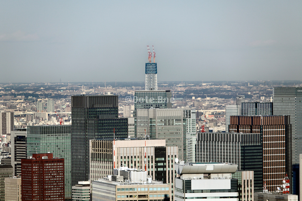 Tokyo Sky Tree tower seen rising over Tokyo