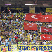 Fenerbahce's supporters during their Turkish Super League soccer match Caykur Rizespor between Fenerbahce at the Yeni Rize Sehir stadium in Rize Turkey on Sunday, 23 August 2015. Photo by TVPN/TURKPIX